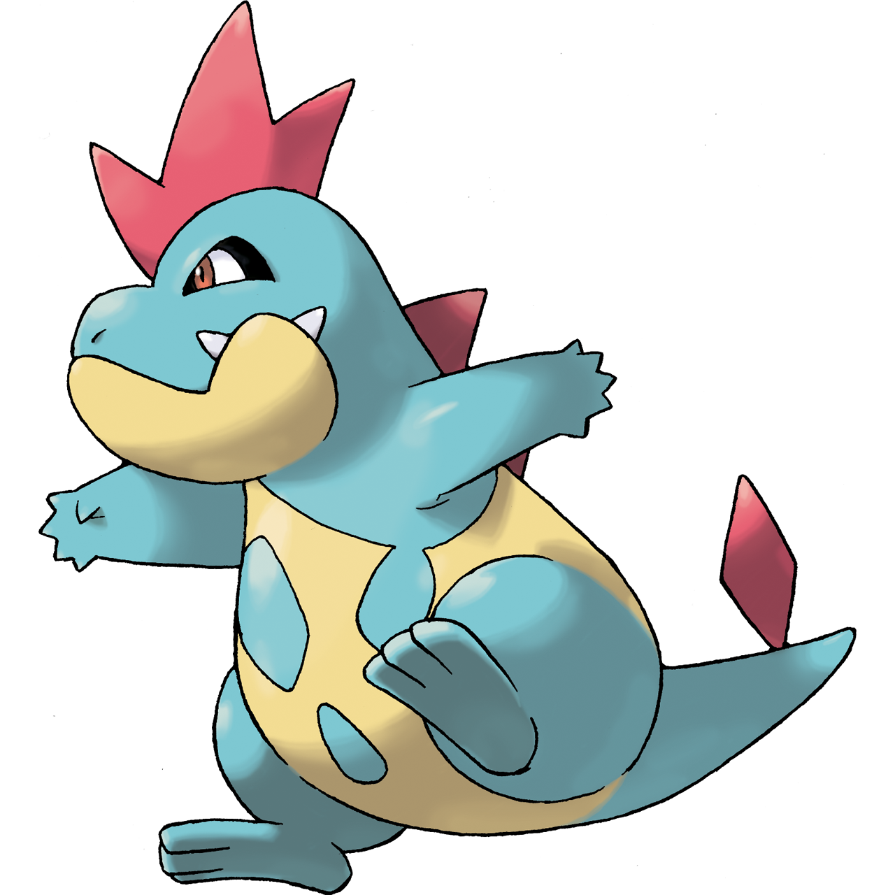 Croconaw flavor pok mon 159 veekun - Pokemon perle evolution ...