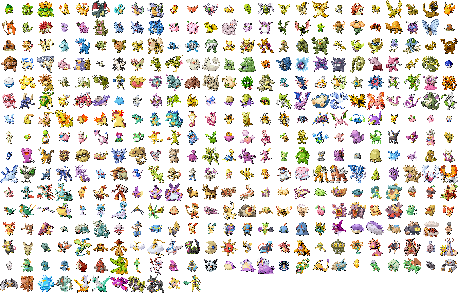 Downloads pokdex veekun main sprite montages sciox Image collections