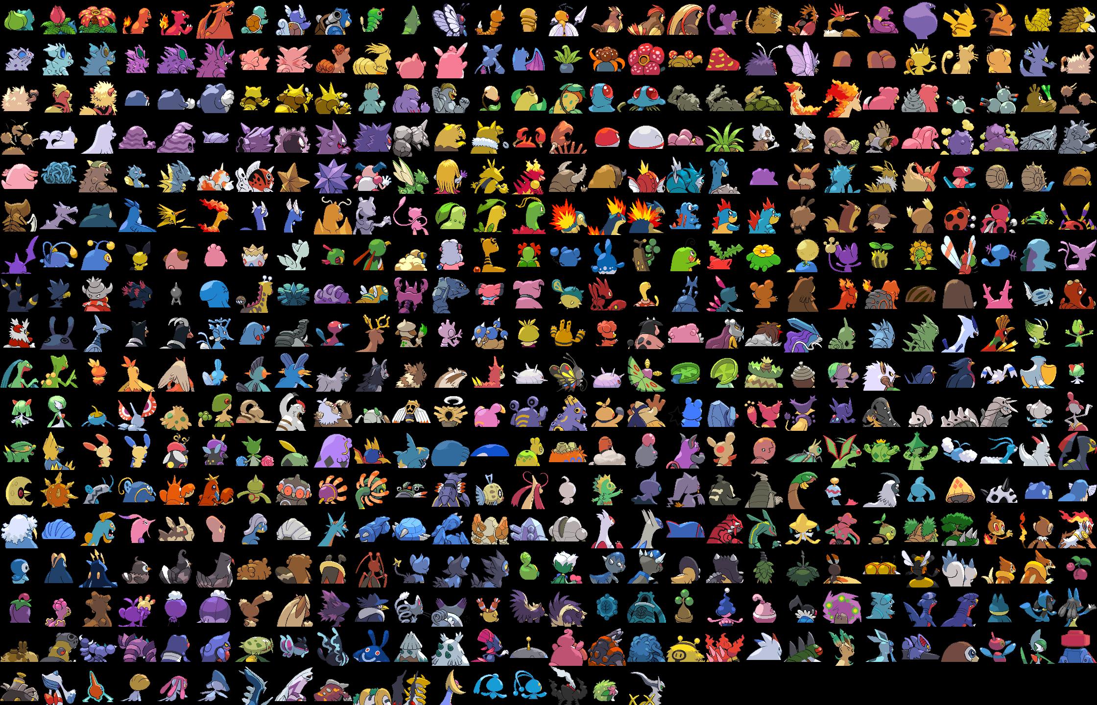pokemon heart gold list